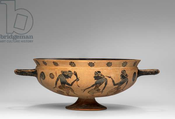 Drinking cup (kylix), 585-570 BC (ceramic)