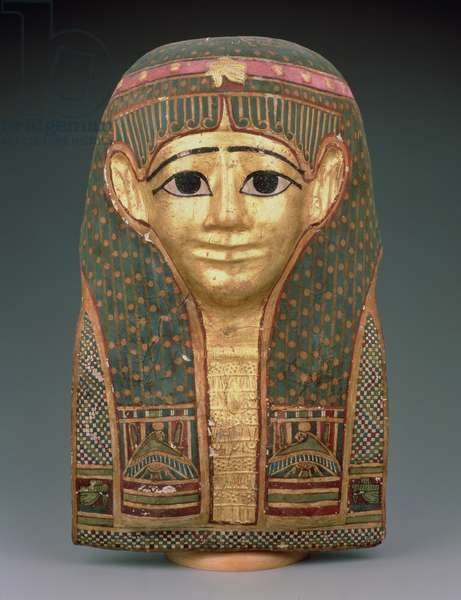 Mummy mask (gilded and painted cartonnage)