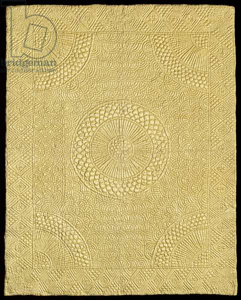 Crib quilt, c.1744 (silk satin, backed with silk plain weave & quilted)