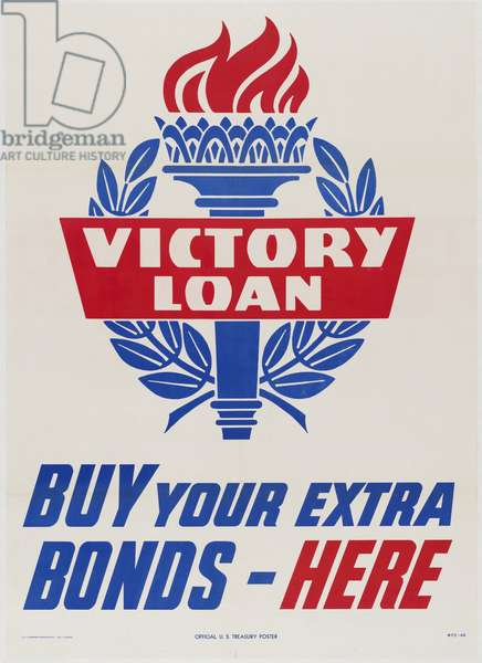 Victory Loan-Buy Your Extra Bonds-Here, 1945 (colour litho)
