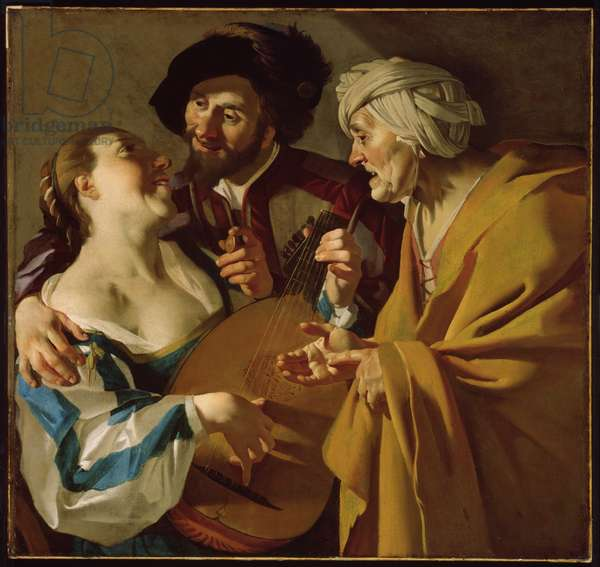 The Procuress, 1622 (oil on canvas)