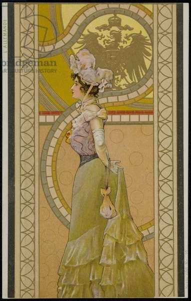 The German, c.1900 (colour litho)