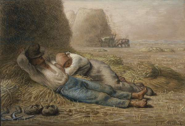 Noonday Rest, 1866 (pastel & black conte crayon on paper)