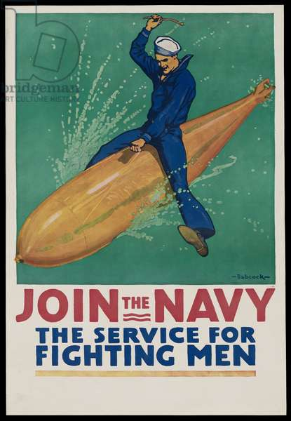 Join the Navy - The Service for Fighting Men, 1917 (colour litho)