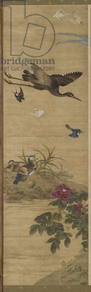Birds and Flowers, Qing Dynasty, 1711 (ink & colour on silk)