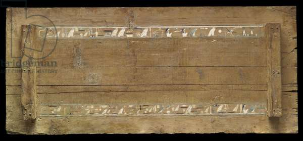 Interior of the lid of the outer coffin of Djehutynakht (cedar)