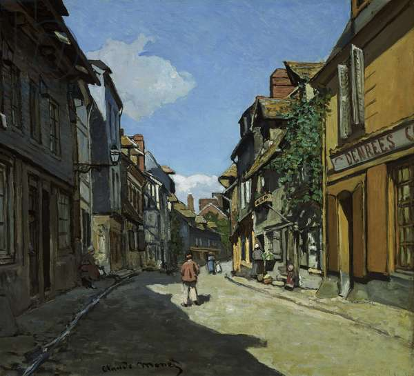 Rue de la Bavole, Honfleur, c.1864 (oil on canvas)