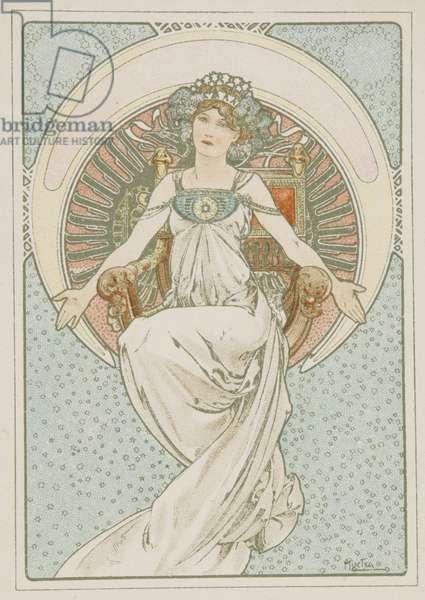 Souvenir de la Belle Jardinière (colour litho)