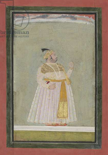 Portrait of a Man, from Mewar, Rajasthan, after 1740 (opaque w/c & gold on paper)
