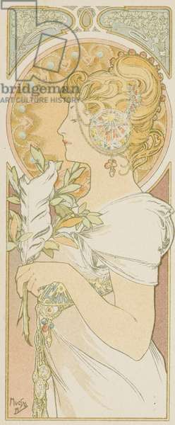 La Plume (colour litho)