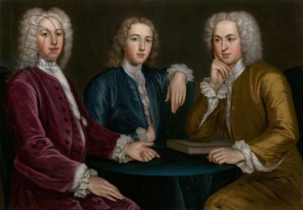 Daniel, Peter and Andrew Oliver, 1732 (oil on canvas)