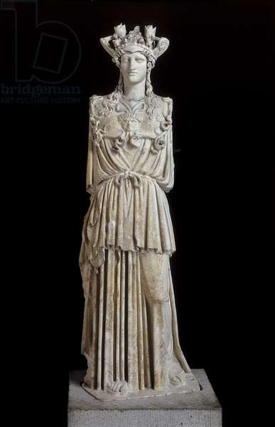 Statue of Athena the Virgin (Athena Parthenos), Imperial Period (marble)