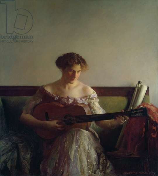 The Guitar Player, 1908 (oil on canvas)