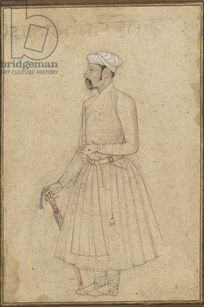 Portrait of Darab Khan (ink & light colour on paper)