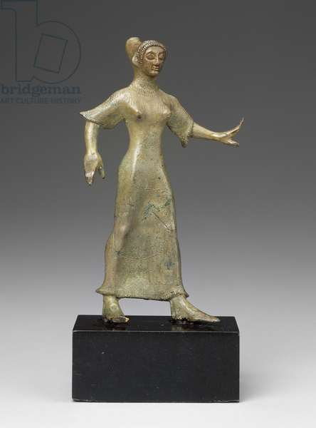 Dancer, Italic, Late Archaic Period, c.500 BC (bronze)