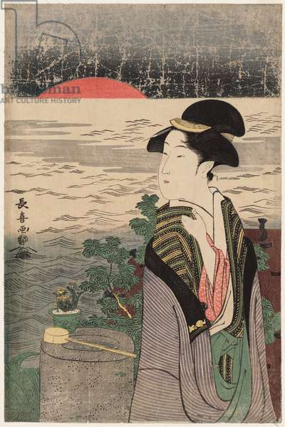 Sunrise on New Year's Morning, late 1790s (colour woodblock print)