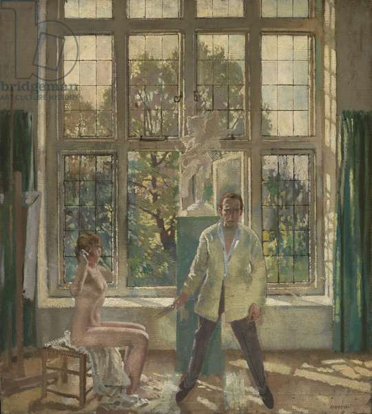 Summer Afternoon (Artist in his Studio with a Model), c. 1913 (oil on canvas)