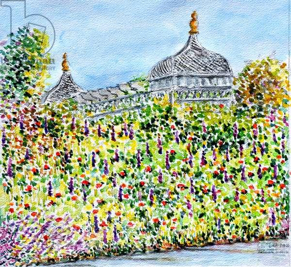 Garden Scene,2020,(watercolor)