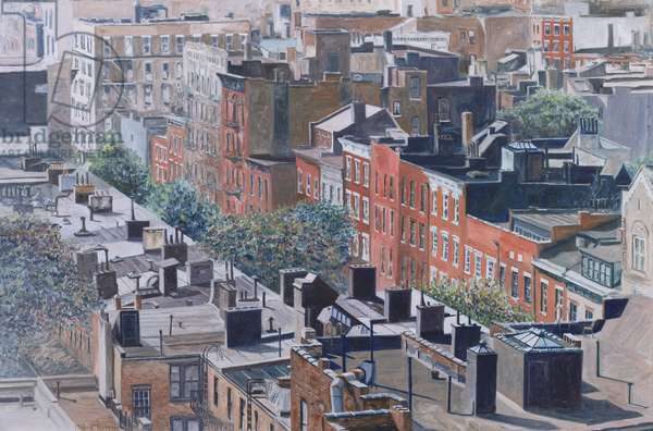 Rooftops, Greenwich Village, West 13th Street, 1986 (oil on canvas)