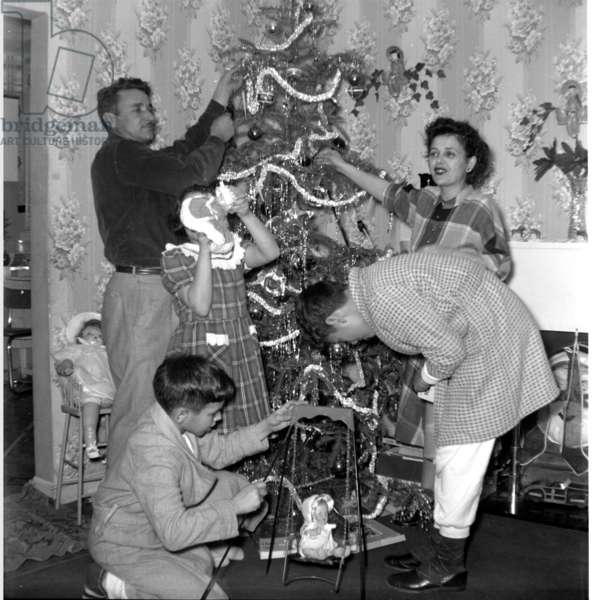 Family, Christmas, 1950 (photograph)