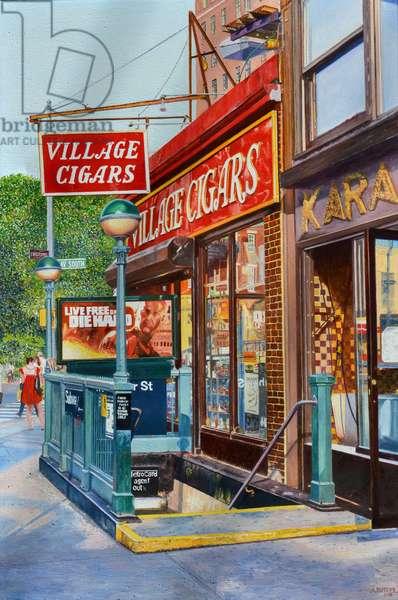 Village Cigars, 2013 ( oil on canvas)