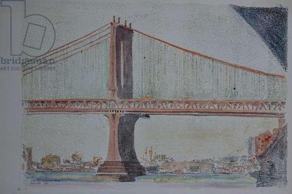 Manhattan Bridge, 1999 ( watercolor)