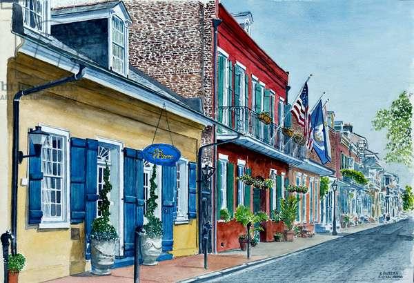 New Orleans, Street Scene, Pierre Hotel,2013 ( watercolor)