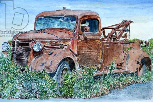 Vintage Tow Truck,    2007 (watercolor)