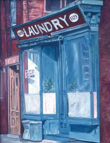 Laundry1985(oil on canvas)