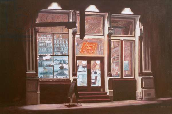 Spring Street Market ,1986( oil on canvas)