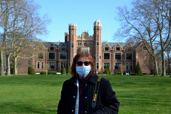 Mask, Covid-19, Wagner College, 2020, (photograph)