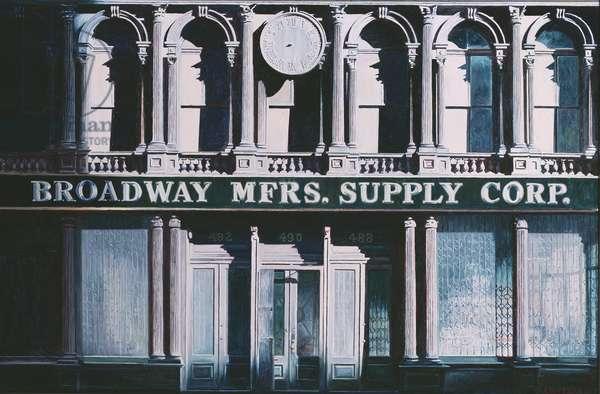 Broadway MFRS Supply Corp, Broadway, 1986 (oil on canvas)