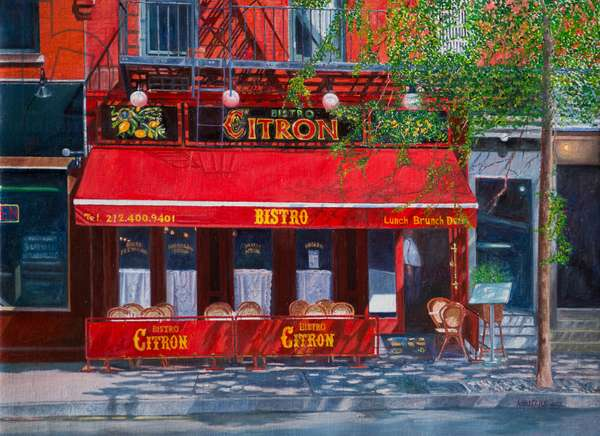 Bistro Citron, NYC, 2012 (oil on canvas)