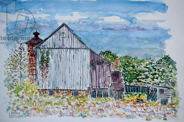 Barn, Sandy Hill Rd, Pa., 2003 (watercolor)