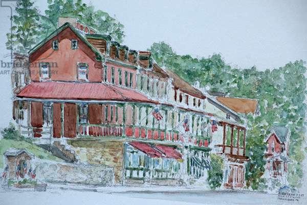 Houses, Parkesburg,Pennsylvania, 1999, (watercolor)