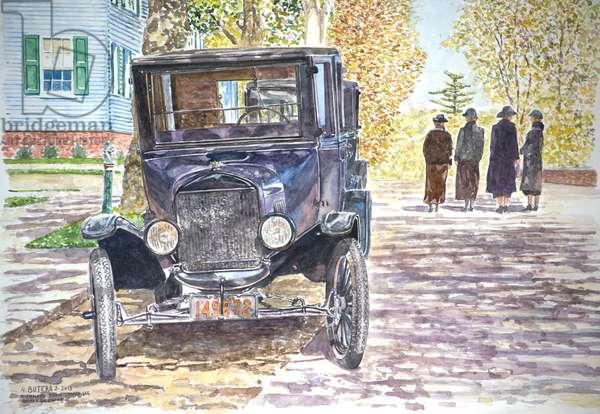 Vintage Car, Richmondtown, 2013 (w/c on paper)