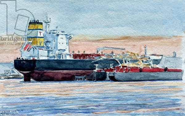 Kill Van Kull, Bayonne, 2010 (watercolor)