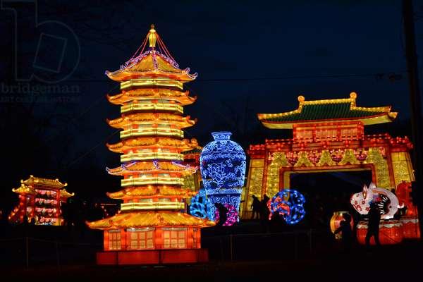 Winter Lantern Festival, Temple, 2018 (photograph)
