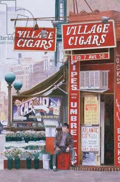 Village Cigars, 2007 (oil on canvas)