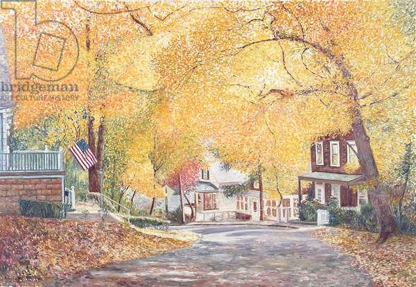 Hillside Avenue, Staten Island, 1992 (oil)
