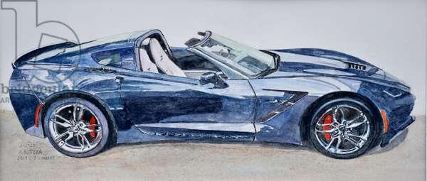 Corvette, 2020,Model C-7, 2019(watercolor)