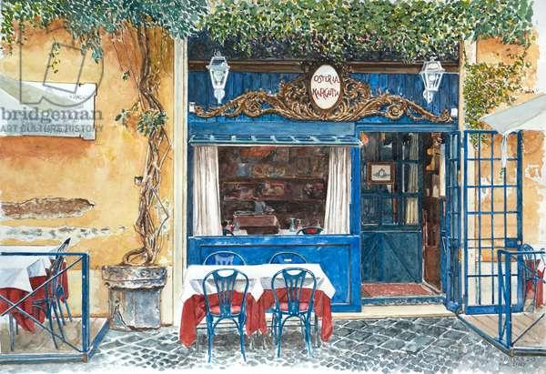 Osteria Margutta, Rome, Italy, 2013 (w/c on paper)