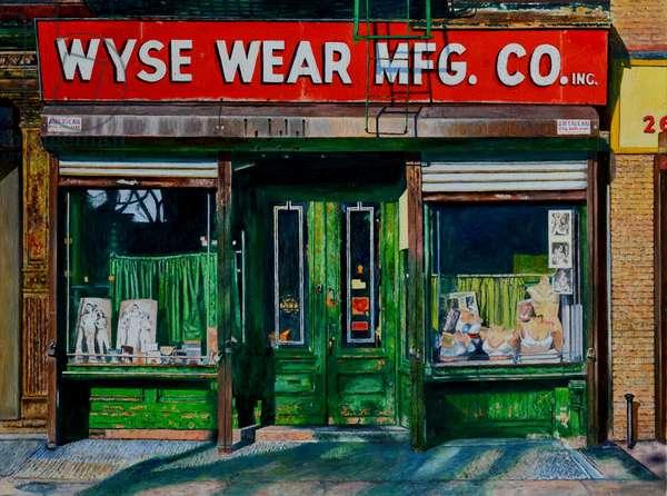 Wysewear Mfg. Co., 2016, (oil on canvas)