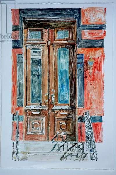 Door, East Village,1998 (monotype)