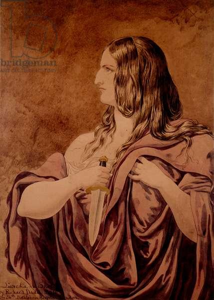 Lucretia - a Sketch, 1854 (w/c on paper)
