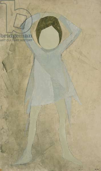 Dancer Study II, 1975 (graphite & oil on hardboard)