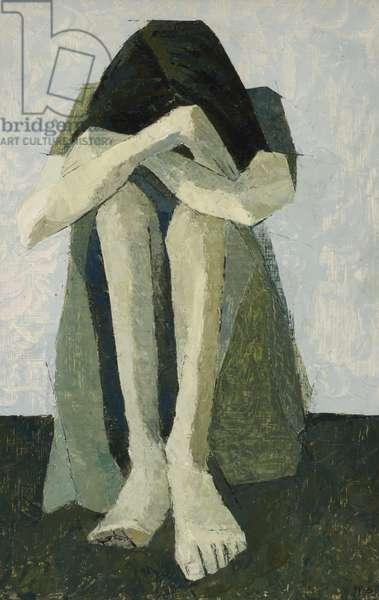 Depression II, 1975 (oil on board)