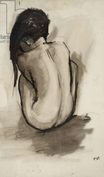 Depression I, 1969 (oil on hardboard)