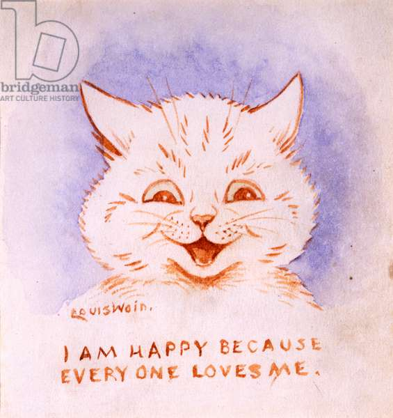 I Am Happy Because Everyone Loves Me, c.1928 (chalk & coloured ink on paper)