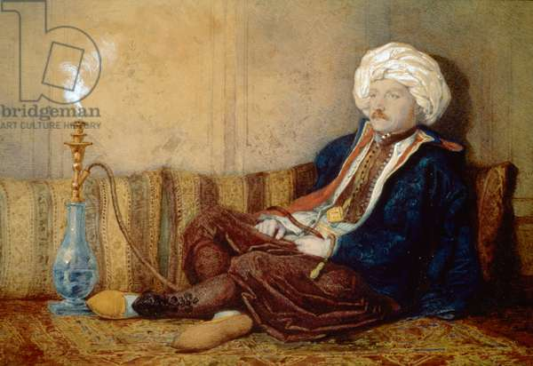 Portrait of Sir Thomas Phillips in Turkish Dress, 1842-43 (w/c on paper)